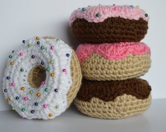 Donut Pincushion, Crochet Donut, Crochet Pincushion