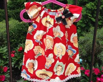 Red Caw girls dress, Baby Girl Peasant Dress, cotton dress, Summer dress, Birthday dress, Kids dress, children, toddler, gift idea