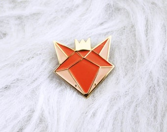 pins fox - fox enamel lapel pin - fox Badge - pins - enamel pins gold metal - accessory and gift woman - Kid mode