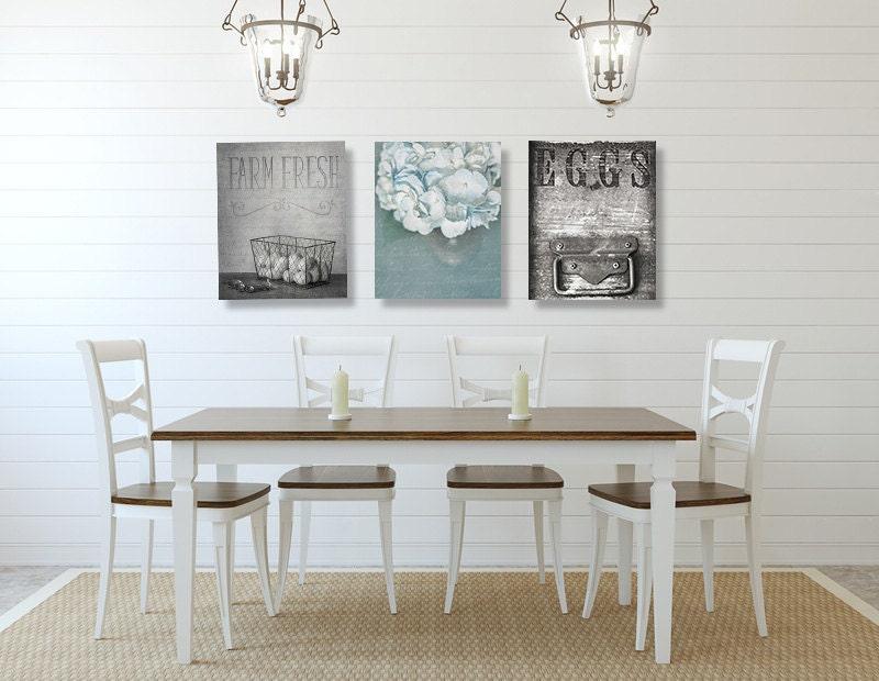 Dining Room Wall Art Farmhouse Wall Decor SET Of THREE