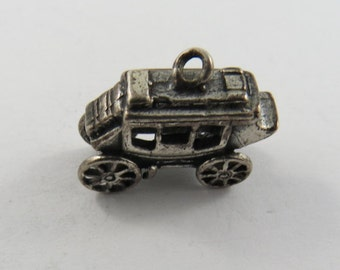 Carriage Car from the Old West Silver Charm.
