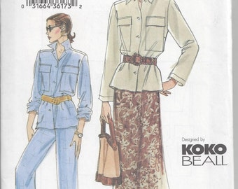 Vogue 7699 Very Easy Sewing Pattern for a Jacket, Skirt, and Pants, Misses'/Misses' Petite 8 10 12 Designed by Koko Beall, Uncut