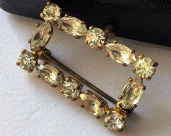 Late Edwardian gold and marquise brooche rhinestones, brooche, vintage antique edwardian jewels, jewels