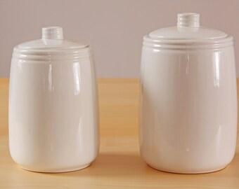 Beauce ceramic white canister set C-3098