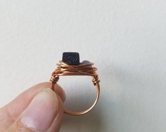Stone Nest Wire Ring