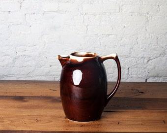 Brown Drip Tea Pot Etsy