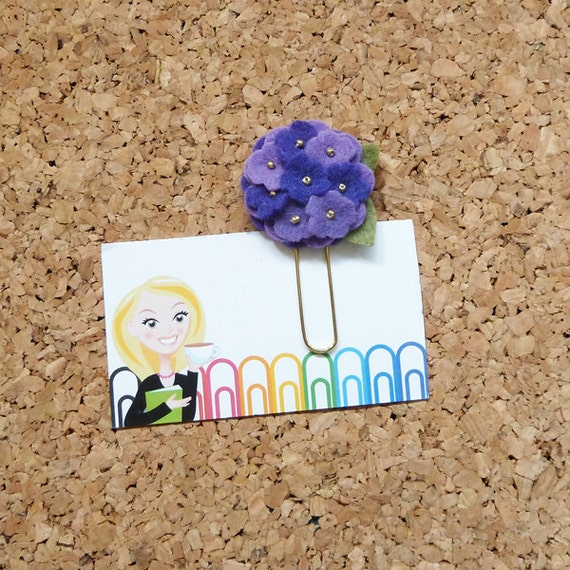 Planner Paper Clips Felt Purple Flower MIX Refrigerator