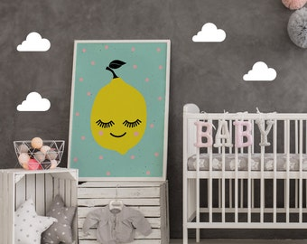 Lemon Poster, Kids Print, Nursery Print, Kids Wall Art, Funny Print, Nursery Decor, Home Decor, Baby Poster, Kids Room Print, Lemon Print