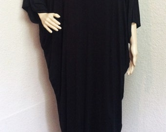 Oversize Lagenlook Long Tunic Dress in One Size for Small to 4XL.