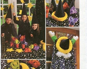 FREE US SHIP McCall's 2990 Wizard Crashed Witch Party Ideas Harry Potter Sun Moon Stars Craft Sewing Pattern 2000 Out of Print