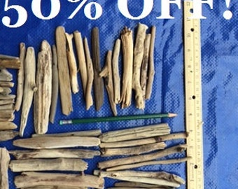 "50% off!!  ~  100 pieces Driftwood ~ 2"" to 5"" in length"