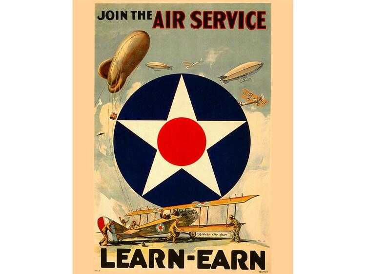Vintage World War Ii Air Force Poster By Contraststudiosdigit
