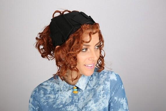 Basic Black Headband Tichel / Yoga Workout Adult Headband / Sweater Weather / Geometric Half Head Hairband / Comfortable Fit / Bad Hair Day
