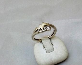 Vintage ring Silver 925 Crystal stones SR182