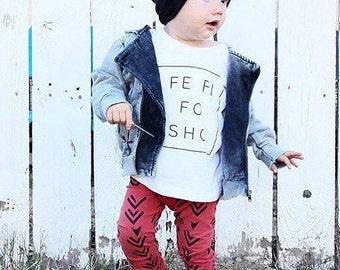 Fe Fi FO SHO // Literary Statement tee for the little trendsetter in the family, Gender neutral Top, T shirt for boys or girls, White