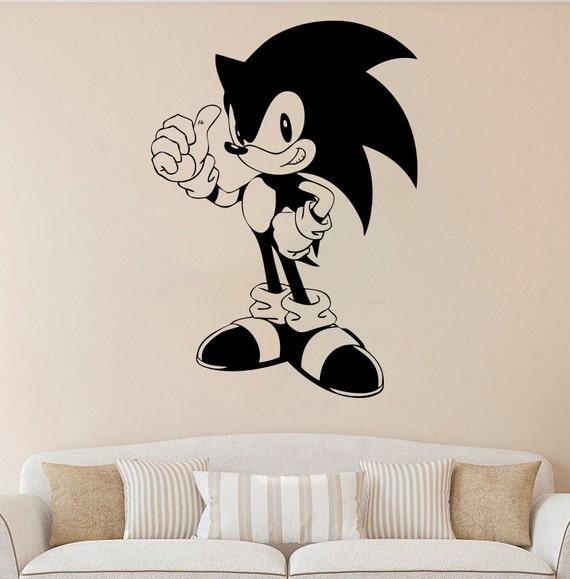 Sonic hedgehog wall decal sonic vinyl sticker cartoons - Sonic wall decals ...