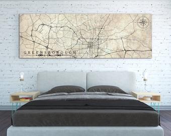 Greensboro Nc Etsy - Greensboro nc on us map