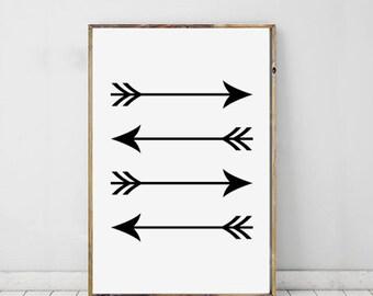 Arrow Print, Arrow Art, Arrow Drawing, Art For Home, Simple Minimalist, Wall Art, Home Decor, Printable Art