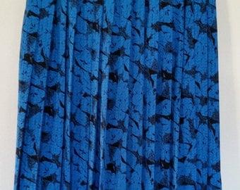 Blue 70' pleated skirt seventies