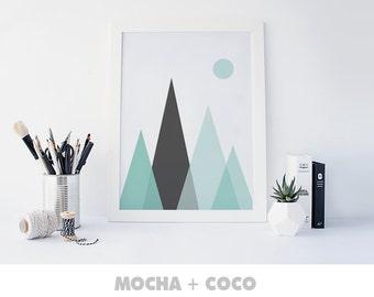 Nursery Mountains Print | Girls room décor, Kids décor, Printable quote, girls wall art, Nursery print, Kids room print, Downloadable prints