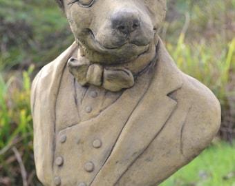 Fox Garden Ornament Bust frost proof stone statue original