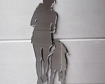 Dog Training Acrylic Mirror - Heel / Walk