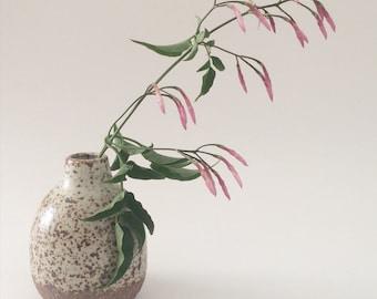 Mini White Speckled Vase
