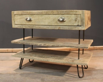 TV table, Chunky TV Stand, Handmade Modern Rustic (The Possingworth)
