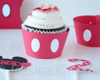 Cupcake Wrappers - Mickey Mouse Cupcake Wrappers - Mickey Mouse Party- Mickey Mouse - 12 ct