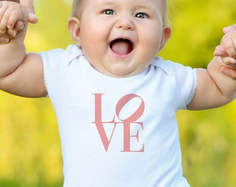 Valentine's Day LOVE Onsie, Valentine's Day LOVE Baby Onsie, LOVE Baby Shower Gift