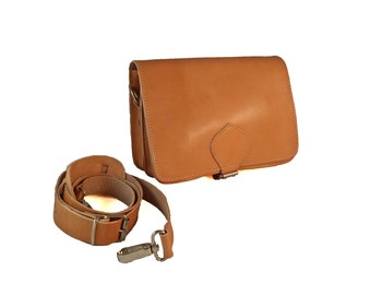 Leather Crossbody Bag - Leather Shoulder Bag. Evening Bag - Leather Clutch - Leather Bag Purse. 100% Cowhide Leather Handmade in Greece.