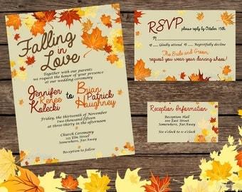 fall wedding invites | etsy, Wedding invitations