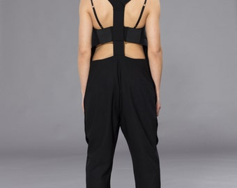 NEW!!Party 'BEYONCE' Playsuite,JumpSuite,Black Romper,Casual Jumpsuite,Extravagant Overall,ConceptStyle,05C07-00070