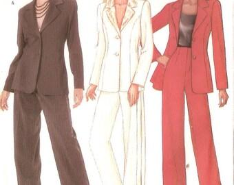 Butterick sewing pattern - suit w' high waist pants - Size 6-8-10