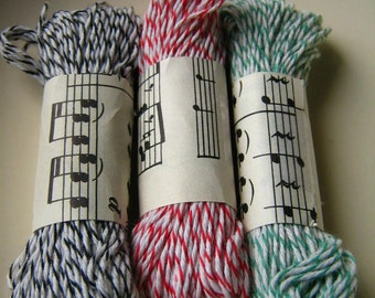 10 Yards of Bakers Twine // Three Colors // Add On