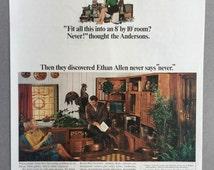 1968 Lot of 2 Ethan Allen Print Ads - Ethan Allen Custom Room Plan Furniture