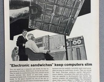 1967 Budd Company Print Ad - Computer Circuit Boards