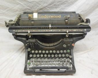Beautiful Antique Underwood No. 5 Typewriter - Vintage Cast Iron Ornate Type Writer Vintage Antique Office Decor