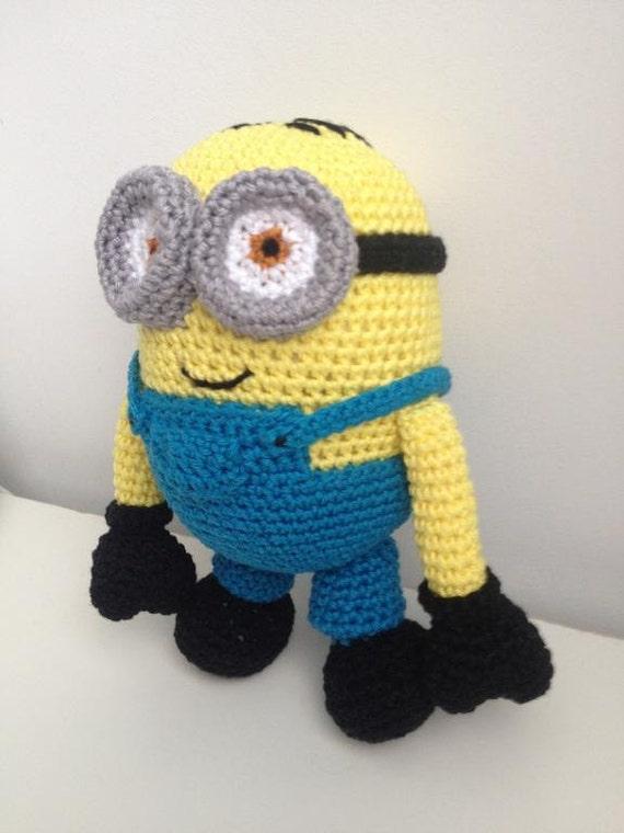 Minion Dave Amigurumi : PATTERN Minion Dave crochet Amigurumi pattern Plush