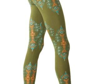 Fractals Leggings- Yoga leggings- Psychedelic Leggings- Rave clothing- Spring leggings-All over print-Festival Leggings-Women's Tights