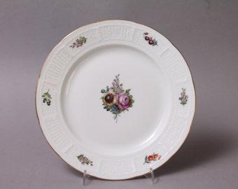"Nymphenburg Flowers Cake Plate 7.48"" in Diameter handpainted Germany Decor 48 #1"