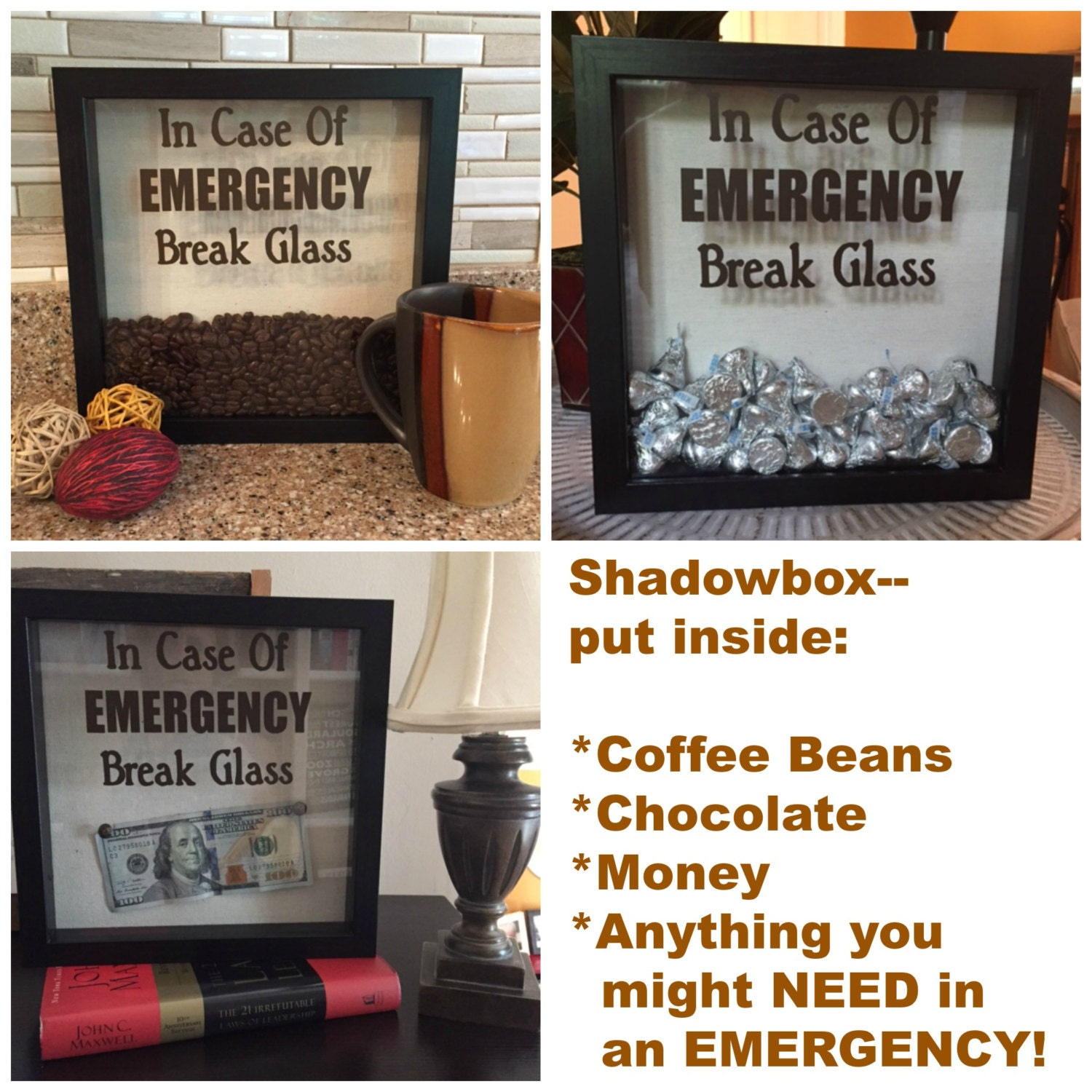 how to make a money shadow box