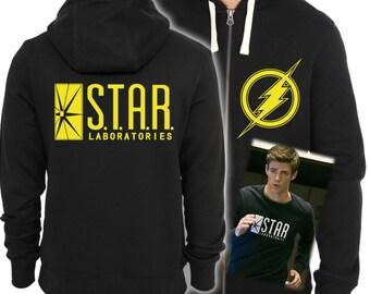 The Flash Star Laboratories Inspired Hoodie Original Design Screenprinted