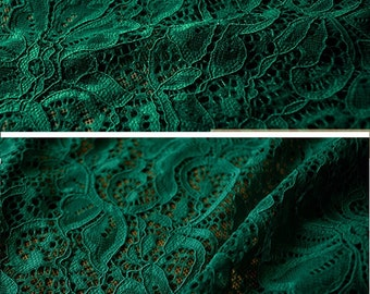 Green lace, bridal lace, green stretch lace, green cotton lace