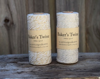 Gold / Silver Bakers Twine FREE SHIPPING 100m 12ply Cotton Twine