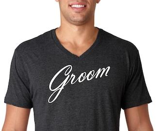 Groom V-Neck Shirt, husband shirt, Wedding, Groom Shirt, Bachelor Gift, Groom,Vintage Age, rad shirts, fashion funny,Hubby,Hubby Shirt,