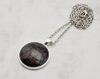 "Rumplestiltskin ""Evil..."" quote Once upon a time TV-Series Necklace Pendant fashion jewelry Fanart Fandom Regina Evil Queen dark born made"