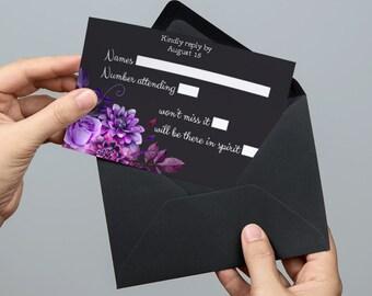 Rsvp card Rsvp template Wedding rsvp cards Printable response card Wedding response cards Printable rsvp cards Response card template 1W38