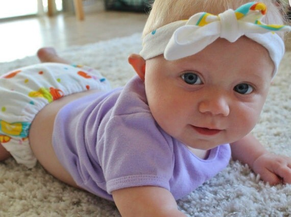Summertime- baby girl toddler Bloomers -headwrap
