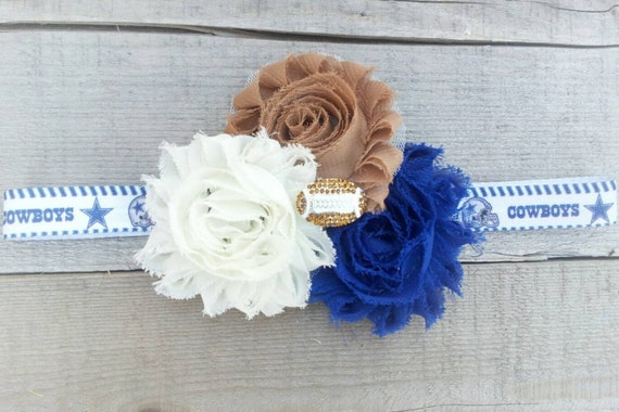 Cowboys headband, Ivory headband, Girls Hair Bows, Flower Head Band, Head bands For Girls, Teen Hair Bows, Girls Hair, Newborn Headband